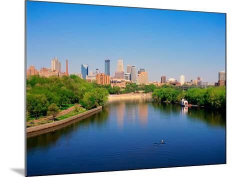 Minneapolis and the Mississippi River--Mounted Photographic Print