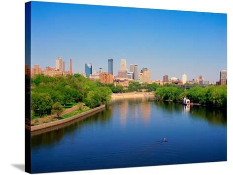 Minneapolis and the Mississippi River--Stretched Canvas Print