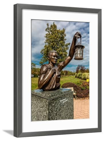 9/11 Memorial Eagle Rock Reservation in West Orange, New Jersey with view of New York City--Framed Art Print