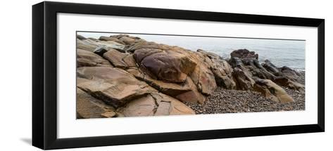 View of rocks at coast, Acadia National Park, Maine, USA--Framed Art Print