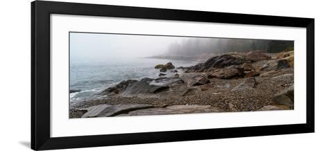 View of rocks at coast, Acadia National Park, Maine, USA--Framed Art Print