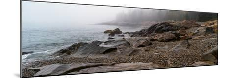 View of rocks at coast, Acadia National Park, Maine, USA--Mounted Photographic Print