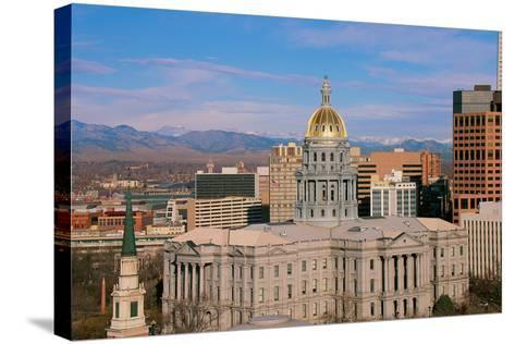 Capitol Building in Denver, CO--Stretched Canvas Print
