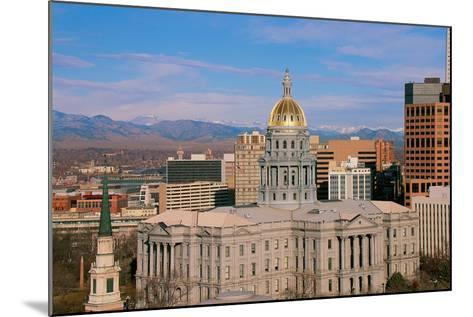 Capitol Building in Denver, CO--Mounted Photographic Print
