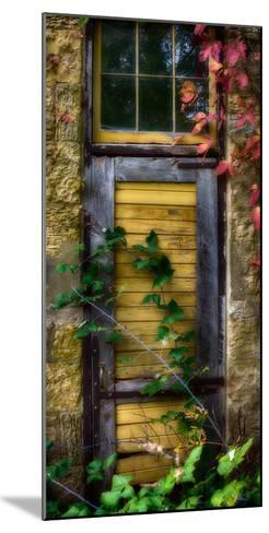 Door of an old brewery in Mineral Point, Wisconsin, USA--Mounted Photographic Print