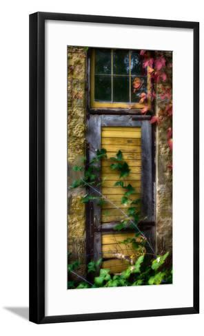 Door of an old brewery in Mineral Point, Wisconsin, USA--Framed Art Print