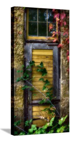 Door of an old brewery in Mineral Point, Wisconsin, USA--Stretched Canvas Print