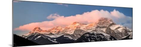 View of snowcapped mountain, Mount Lougheed, Kananaskis Country, Calgary, Alberta, Canada--Mounted Photographic Print