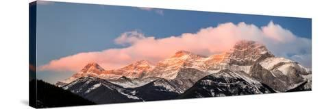 View of snowcapped mountain, Mount Lougheed, Kananaskis Country, Calgary, Alberta, Canada--Stretched Canvas Print
