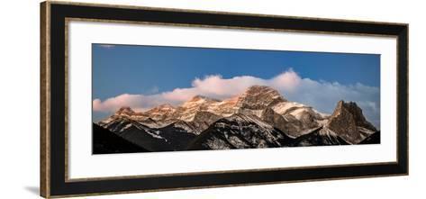 View of snowcapped mountain, Mount Lougheed, Kananaskis Country, Calgary, Alberta, Canada--Framed Art Print