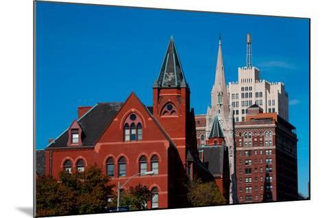 Skyline and church on Grand Avenue, St. Louis, Mo.--Mounted Photographic Print