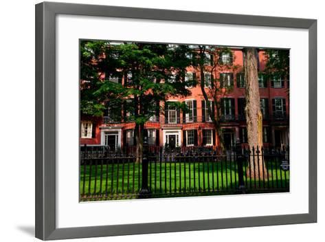 Historic homes of Beacon Hill, Boston, MA--Framed Art Print