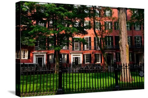 Historic homes of Beacon Hill, Boston, MA--Stretched Canvas Print