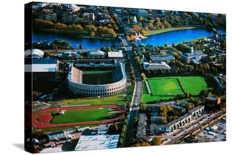 Aerial View of Soldiers Field, home of Harvard Crimson, Harvard, Cambridge, Boston, MA--Stretched Canvas Print