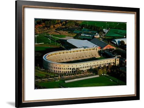 Aerial View of Soldiers Field, home of Harvard Crimson, Harvard, Cambridge, Boston, MA--Framed Art Print