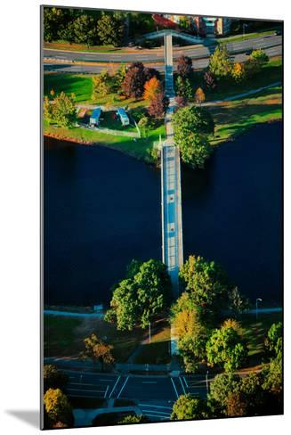 Aerial View of bridge across Charles River, Boston, MA--Mounted Photographic Print