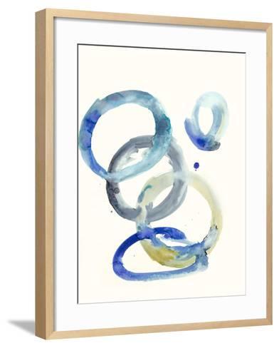 Watercolor Oval 4-Natasha Marie-Framed Art Print