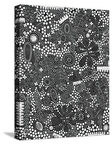 Monochrome Spots 1-Natasha Marie-Stretched Canvas Print
