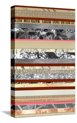 Paper Strip Collage a - Recolor-Natasha Marie-Stretched Canvas Print