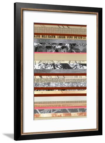 Paper Strip Collage a - Recolor-Natasha Marie-Framed Art Print