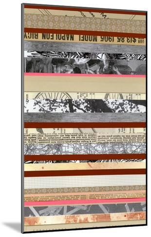 Paper Strip Collage a - Recolor-Natasha Marie-Mounted Premium Giclee Print