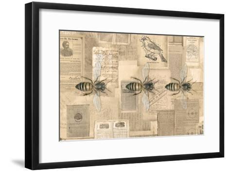 Academic Bee Illustration-Brenna Harvey-Framed Art Print