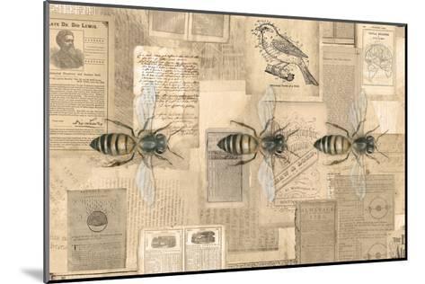 Academic Bee Illustration-Brenna Harvey-Mounted Premium Giclee Print