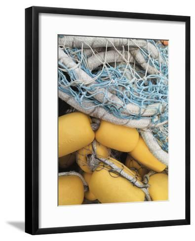 Fishing Net and Buoys-Mimi Payne-Framed Art Print