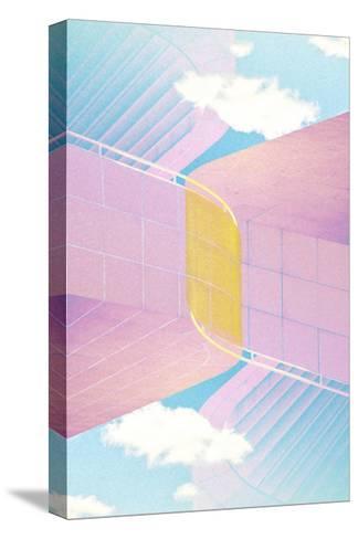 Folded Architecture 20-David Jordan Williams-Stretched Canvas Print