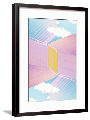 Folded Architecture 20-David Jordan Williams-Framed Art Print