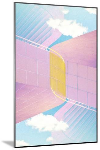 Folded Architecture 20-David Jordan Williams-Mounted Premium Giclee Print