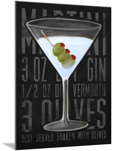 Martini (Vertical)-Cory Steffen-Mounted Premium Giclee Print