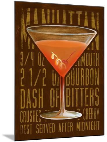 Manhattan (Vertical)-Cory Steffen-Mounted Premium Giclee Print