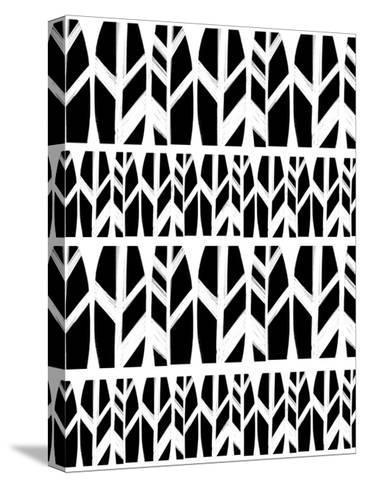 Black Leaves-Melanie Biehle-Stretched Canvas Print