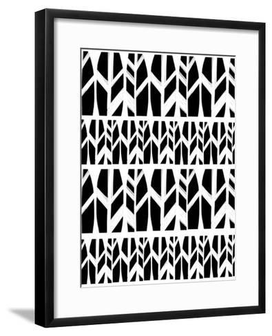 Black Leaves-Melanie Biehle-Framed Art Print