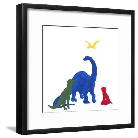 Dinosaur Dreaming-Millie Brooks-Framed Art Print