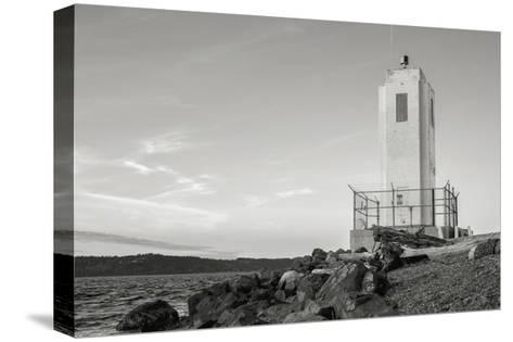 Browns Point Lighthouse-Steve Bisig-Stretched Canvas Print