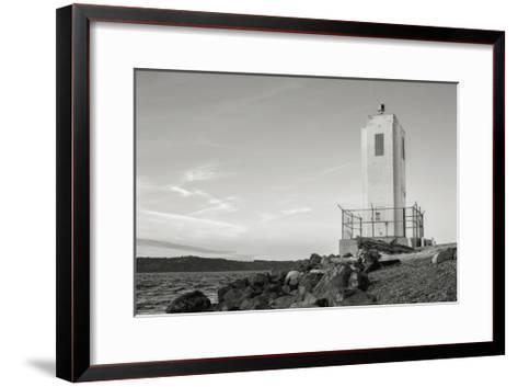Browns Point Lighthouse-Steve Bisig-Framed Art Print