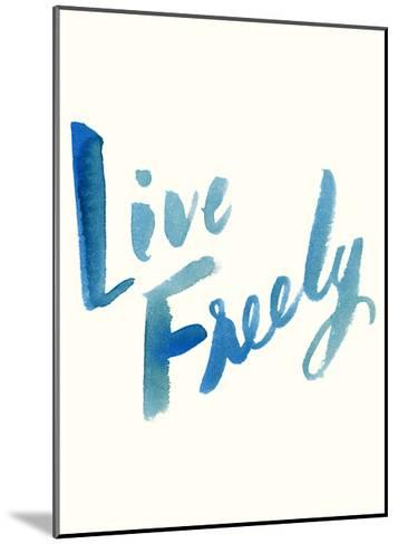 Blue Live Freely-Erin Lin-Mounted Premium Giclee Print