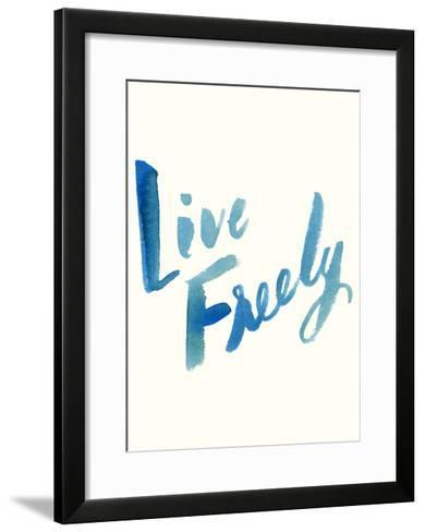 Blue Live Freely-Erin Lin-Framed Art Print
