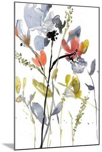 Flower Overlay II-Jennifer Goldberger-Mounted Premium Giclee Print