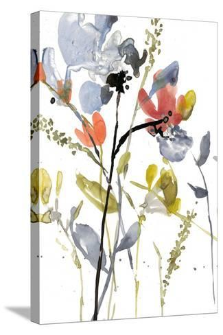 Flower Overlay II-Jennifer Goldberger-Stretched Canvas Print