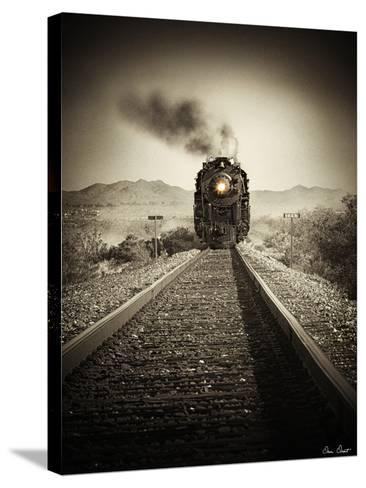 Train Arrival II-David Drost-Stretched Canvas Print
