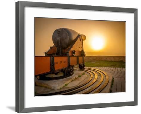 Civil War Canon at Sunset-David Schulz Photography-Framed Art Print