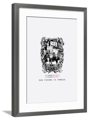 The Future is Female--Framed Art Print