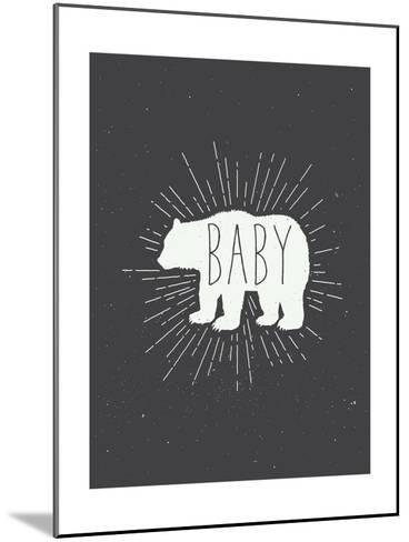Baby Bear-Kindred Sol Collective-Mounted Art Print