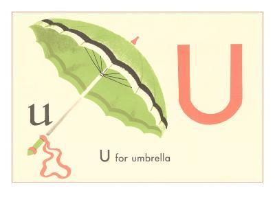 U is for Umbrella--Art Print