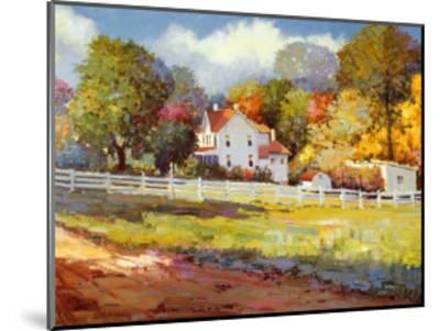 Early Autumn Farm-Kent Wallis-Mounted Art Print