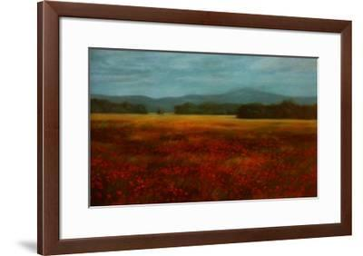 French Poppy Fields-David Schock-Framed Art Print