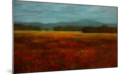 French Poppy Fields-David Schock-Mounted Art Print